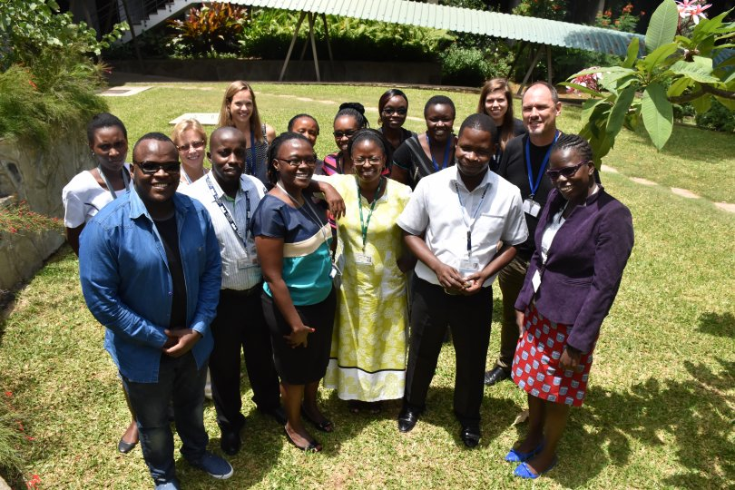 Research uptake workshop participants in Kilifi, 2017