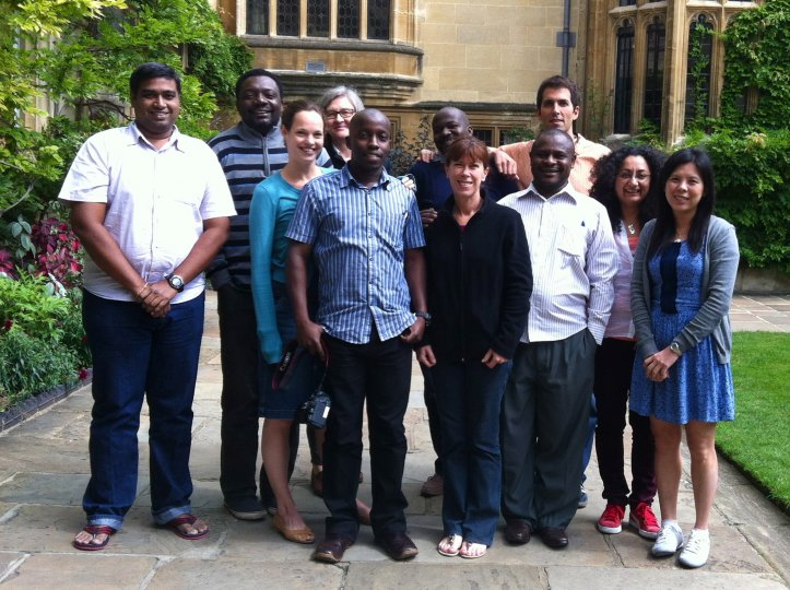 Participants at the digital storytelling workshop, Oxford, 2014